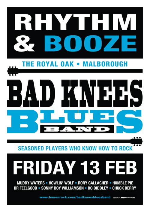The BAD KNEES  @  The Royal Oak on the Friday 13th of February