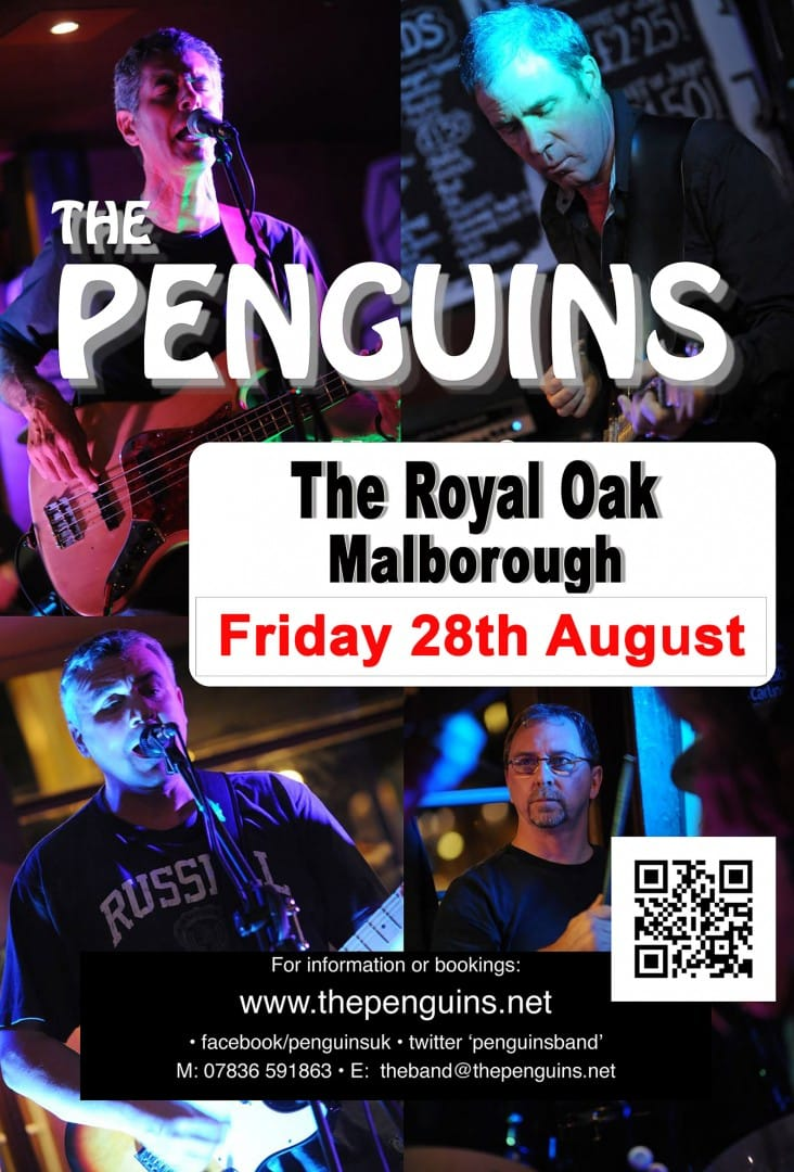 The Penguins return on Friday 28st August at the oak