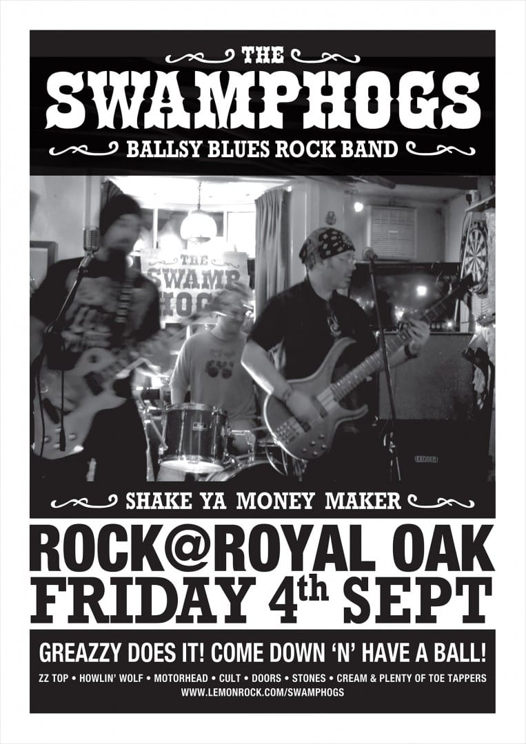 Be prepared for some ballsy Blue at the Royal Oak on Friday 4th September