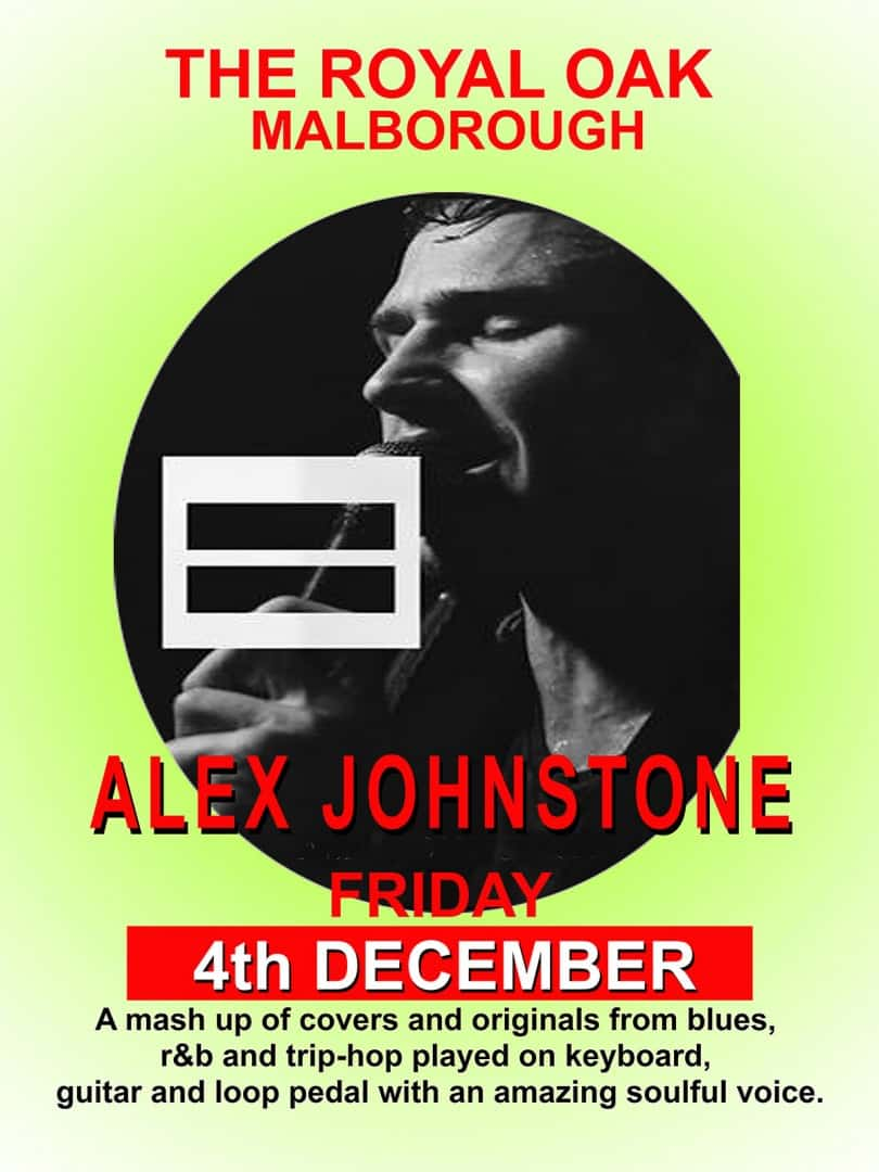 Alex Johnston at the Royal Oak on Friday 4th December