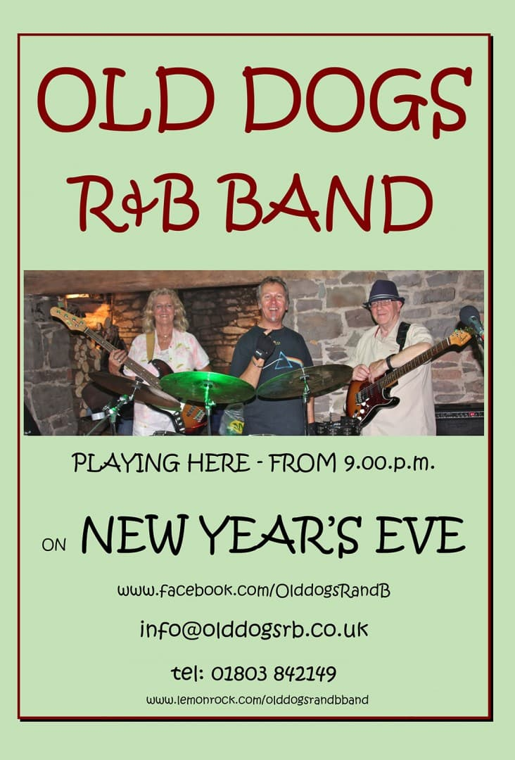 NEW YEAR EVE at the Royal Oak Pub · Malborough, Kingsbridge, Devon