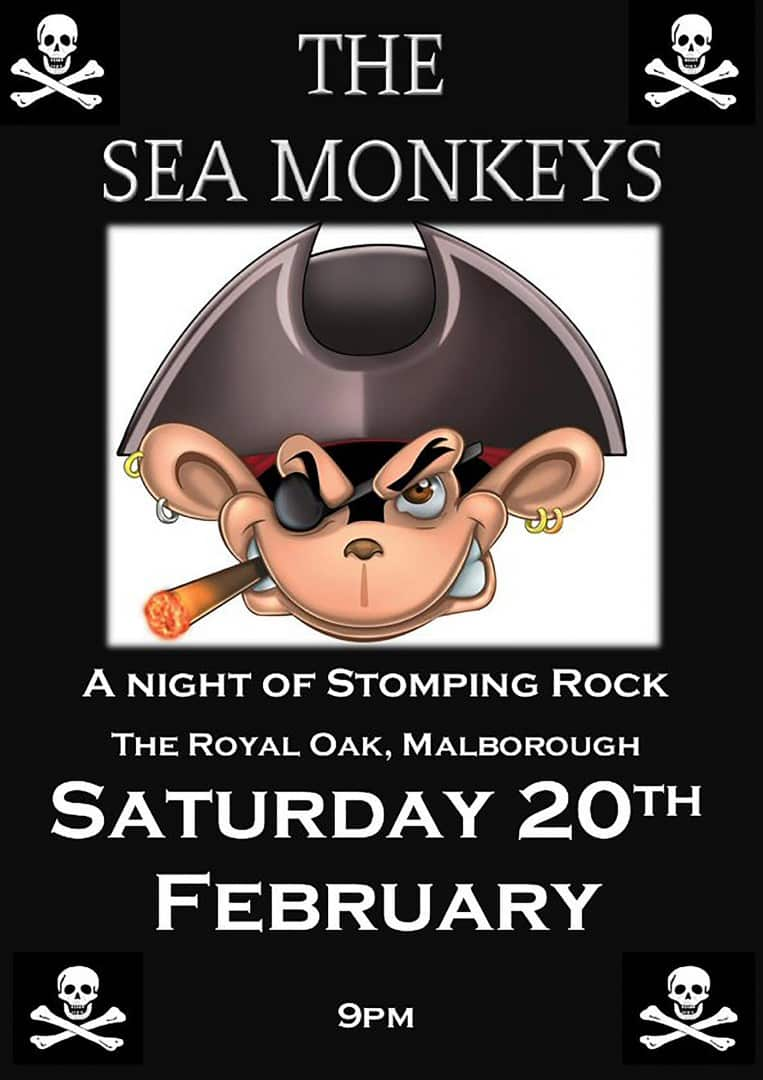 The Sea Monkeys at the Royal Oak Pub · Malborough, Kingsbridge, Devon