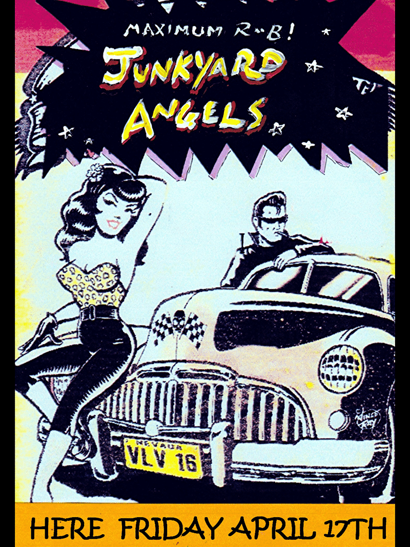 Live the 17th April – The Junkyard Angels